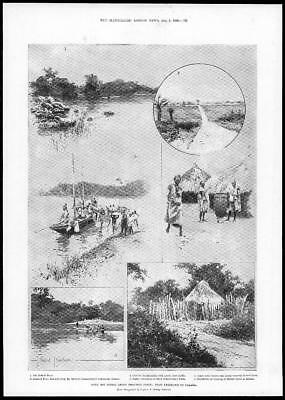 1899 Antique Print - AFRICA Sierra Leone Frontier Force Freetown Falaba  (289)