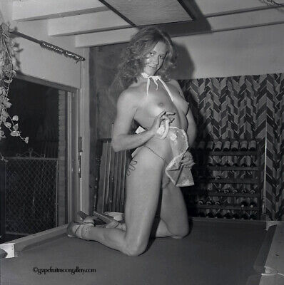 Marilyn Chambers 1975 Camera Negative Miami Cocktail Party Candid On Pool Table