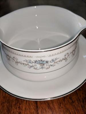 Fine China of Japan Porcelain Wade Diane Pattern - GRAVY BOAT W/ UNDER PLATE