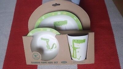 eco friendly baby kids plate cup set made from eco friendly bamboo ware set new