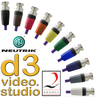 Long 3G HD SDI Professional Image 360 Digital Video Neutrik Rear Twist BNC Cable