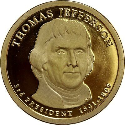 2007 S Proof Thomas Jefferson Presidential Dollar U.S. Mint