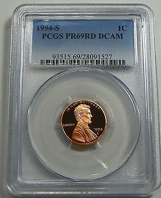 1994-S Proof Lincoln Cent Penny PCGS PR69RD DCAM - FREE SHIPPING