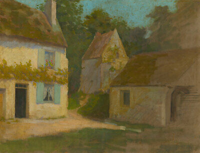 R. L. Dodge - Early 20th Century Oil, French Summer Cottage