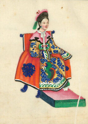 Late 19th Century Gouache - Album of Twelve Chinese Figures on Pith Paper
