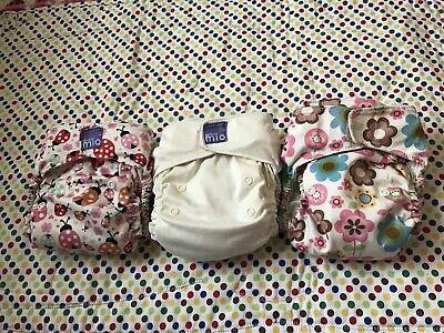 Bambino Mio Miosolo Bundle of 3 Nappies (Preloved) Reuseable Cloth Nappy Diaper