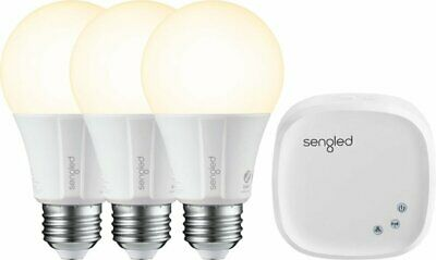Sengled Smart LED A19 Starter Kit - 3 BULBS + HUB - White Only - BRAND NEW!!!