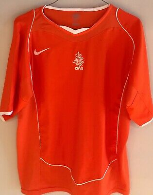 65ee04af50b Authentic 2004 Nike Netherlands Knvb Dutch World Cup Football Soccer Jersey  Xl