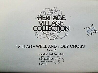 "Heritage Village Collection "" Village Well and Holy Cross"" 6547-1"