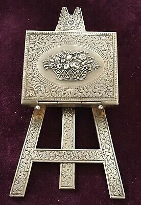 Messing Nadelbehälter Staffelei Avery Brass Needle Case Easel Floral