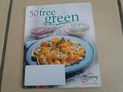 Slimming World 50 Green Recipes with 1st cert and sp bookmark