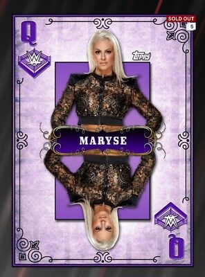 Slam DIGITAL Maryse Queens Of The Ring Purple Queen WWE Topps 2016