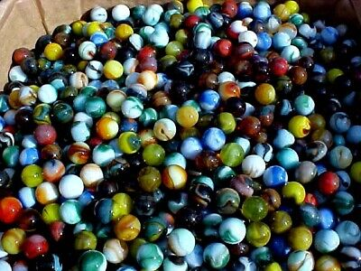 "150  5/8"" ( + or -)  HAND SELECTED OLDER JABO   MARBLES  $17.99 LOT 5"