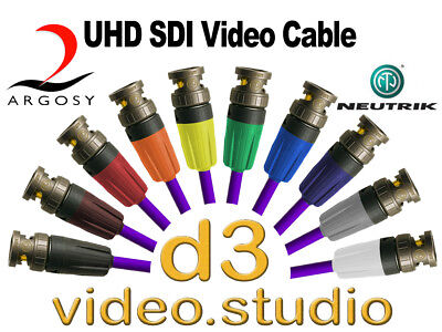 UHD SDI Professional Image 360 Digital Video & Neutrik UHD Rear Twist BNC Cable