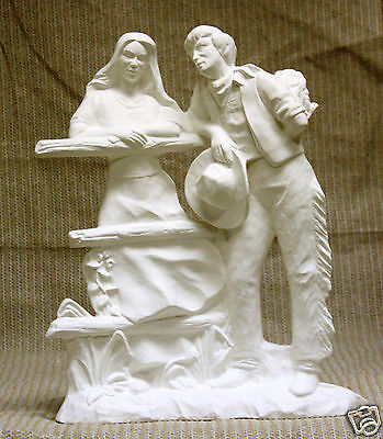 Ceramic Bisque Western Courting Couple Doc Holliday 2598 U-Paint Ready To Paint