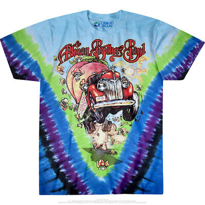 730388080 OFFICIAL ALLMAN BROTHERS Band - Mushroom Express Tie-Dye Adult Music ...