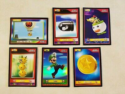 Super Mario Bros. Wii, Collector Cards, 6 cards in all.
