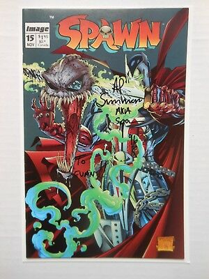 Spawn #15 In Vf/Nm Or Better Condition Signed Al Simmons Aka Spawn 96