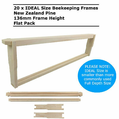 20 x Ideal Size Unassembled Beekeeping Frames Bee Hive Frame Timber Wood Beehive