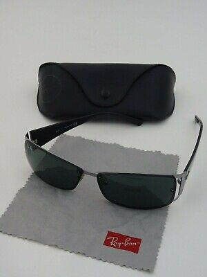 7f41b25ca593a AUTHENTIC RAY-BAN RB 3394 004 71 62-13 3N Sunglasses Black Pre-Owned ...