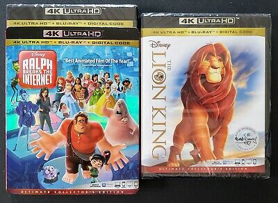 Lion King + Ralph Breaks The Internet 4K Ultra Hd + Blu-Ray ✔☆Mint☆✔ No Digital