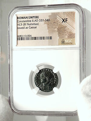 CONSTANTINE II Junior Authentic Ancient 320AD Roman Coin CAMPGATE NGC i76301