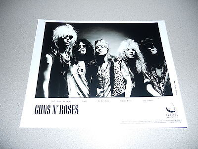 Guns N Roses 1988 Promo 8x10 Photo Axl Rose Slash Appetite For Destruction
