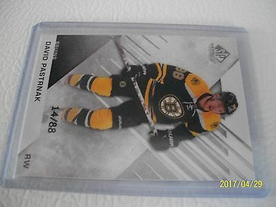 David Pastrnak  Sp Game Used 16-17 # 7 And 54/88 !!!