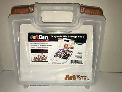Magnetic Die Storage Case Art Bin + 3 Sheets of Magnets for Big Shot Cutting Too