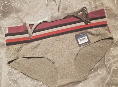 63297e71649 Tommy Hilfiger 2 Pack Hipster Wide Elastic Panties XL Purple   Gray SHIPS  FREE