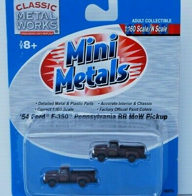 Classic Metal Works N Scale '54 Ford F-350 Utility. Pennsylvania RR. MOW. New