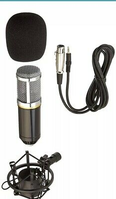 DragonPad USA Pro Condenser Sound Recording Microphone + Mic Shock Mount Bundle