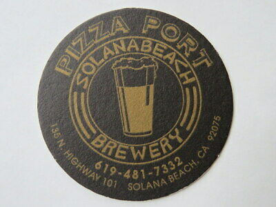 Beer Breweriana Coaster ~*~ PIZZA PORT Brewing Pickleweed Point IPA ~ CALIFORNIA