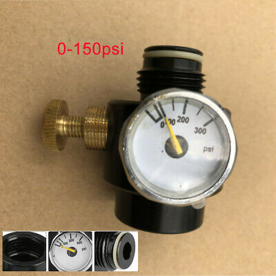 High Pressure 0-2200Psi CO2 Adjustable Regulator Valve 0.825-14 NGO Thread USPS