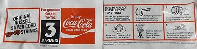Coca Cola Russell Yo Yo String Packet 1980's New Old Stock