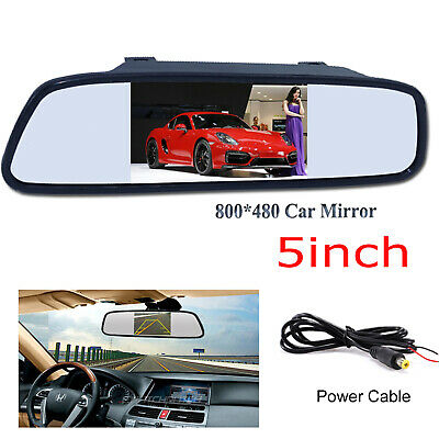 5'' TFT LCD 800*480 Color Car Rear View Mirror Monitor Parking Reverse System