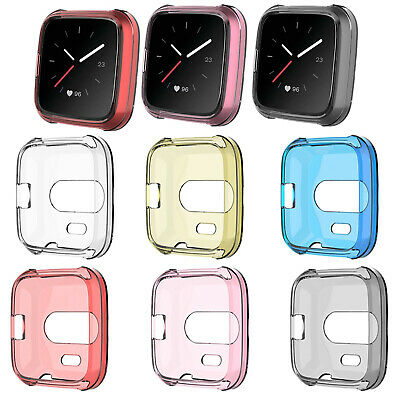 6pcs/pack TPU Housing Shell Case Screen Protector for Fitbit Versa Lite Watch