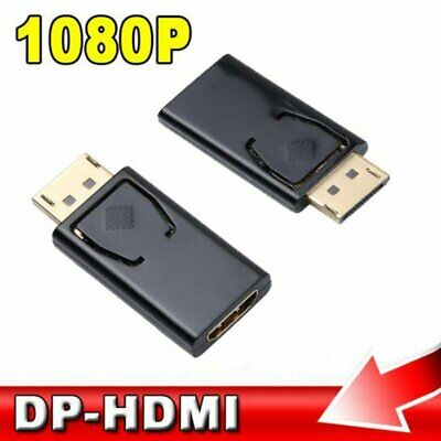 Black Display Port DP Male To HDMI Female Adapter Converter for 1080P HDTV PC