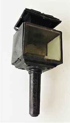 antique AMISH BUGGY CARRIAGE LANTERN lamp oil primitive light mount steampunk