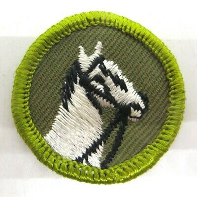 Vintage Boy Scout Merit Badge Type F Rolled Edge Khaki Twill Cooking