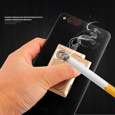 1x Mini Portable USB Electric Battery Rechargeable Flameless Collectible Lighter