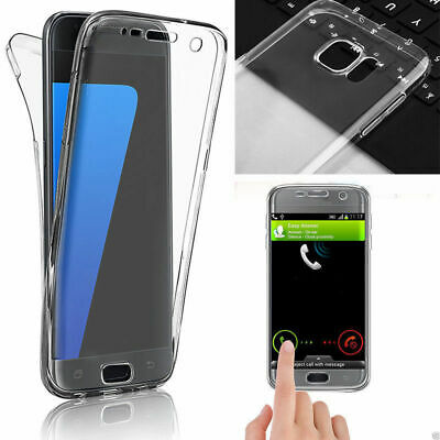360 Degree Soft Silicone Gel TPU Clear Full Body Case Cover For Samsung A3 5 7 6