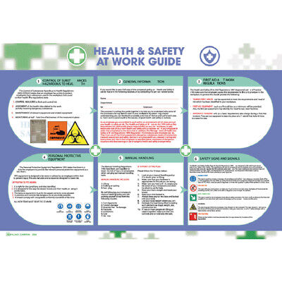 Wallace Cameron Health and Safety Poster Health and Safety At Work 590X420mm 540