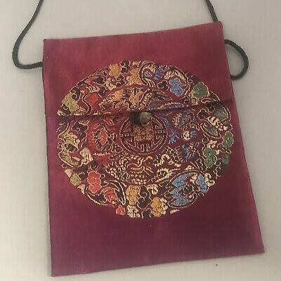 Vintage Chinese Silk Bag with Bell Fastening