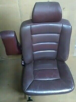 1989 Mercedes S-Class 300 Se Passenger Front Leather Seat With Arm Rest