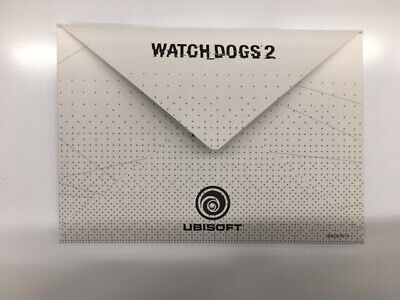 WATCHDOGS 2 San Francisco edition 3 POSTCARDS and ENVELOPE new PS4 Xbox one