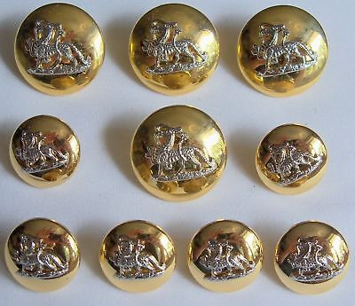 "Set of 10x:""ATTRACTIVE DRAGON BUTTONS"" (Quailty Made, Ex-British Army, Unused)"