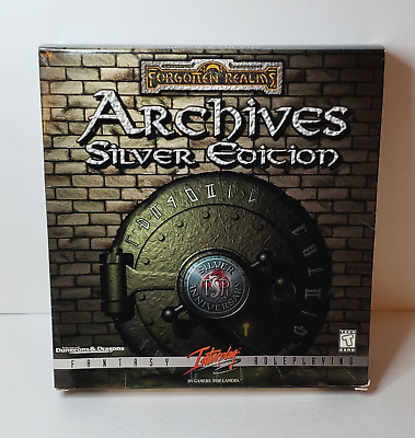 SSI Advanced Dungeons & Dragons Forgotten Realms, Archives Silver Edition, PC CD