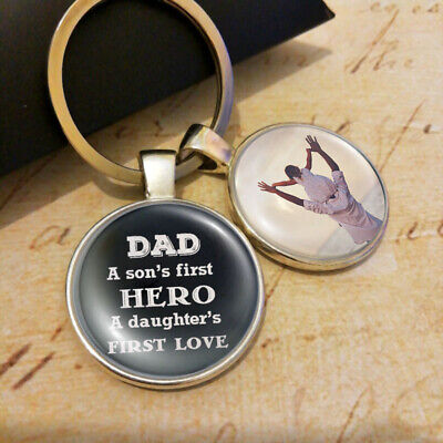 Personalised Photo Keyring - Dad's Gifts Father's Day Present Daddy Son Daughter