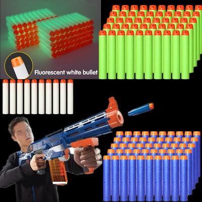 10-100Pcs Gun Soft Refill Bullets Darts Round Head Blaster Nerf N-strike Kid Toy